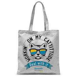 Cattitude Sublimation Tote Bag