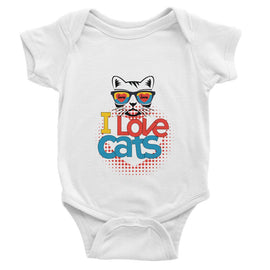 I Love Cats Baby Bodysuit