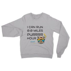 0.0 Miles Purrrr Hour Womens Sweatshirt