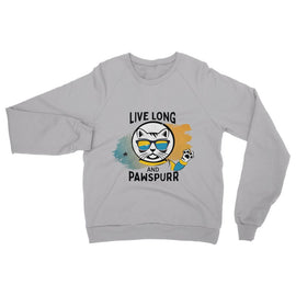 Live Long & Pawspurr Womens Sweatshirt