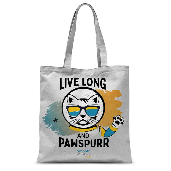 Live Long & Pawspurr Sublimation Tote Bag