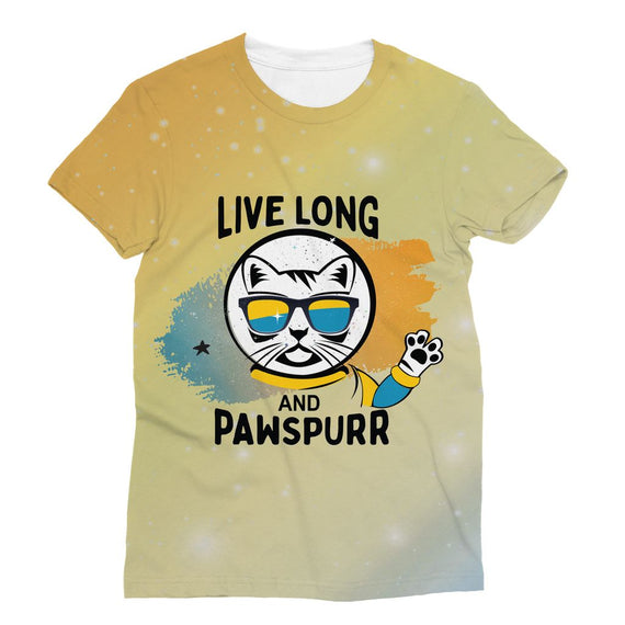Live Long & Pawspurr Sublimation T-Shirt