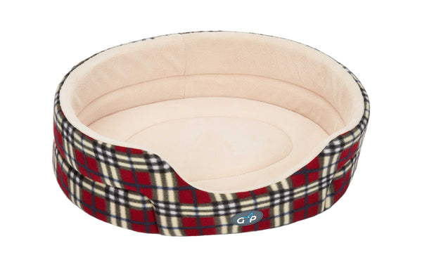 "Argyll Standard Bed 70cm (28"") Red Check (SRP £25.49)"