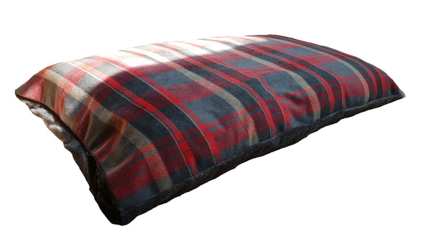 Camden Comfy Cushion Medium Red Check (SRP £31.99)