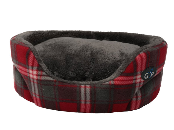 "Essence Standard Bed Small 53cm (21"") Red Check (SRP £21.99)"