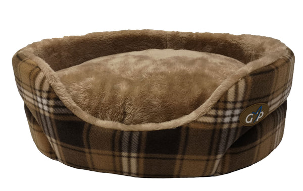 "Essence Standard Bed Medium 60cm(24"") Brown Check(SRP £25.99"