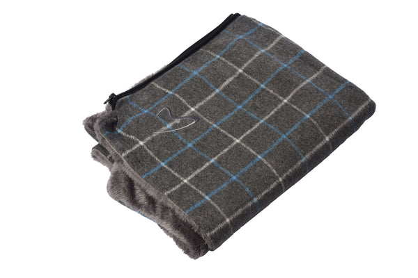 Premium Comfy Cushion Cover Large Grey Check (SRP £25.99)