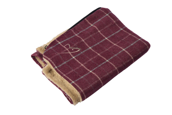Premium Comfy Cushion Cover Medium Wine Check (SRP £16.49)
