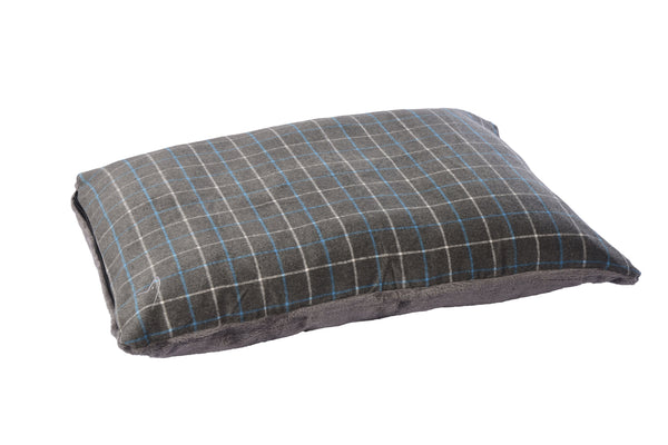 Premium Comfy Cushion Large Grey Check (SRP £51.99)