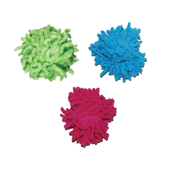Kong Cat Moppy Ball (8cm) Blue/Pink/Green (SRP £2.49)