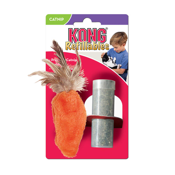 Kong Cat Refillable Catnip Feather Carrot (17cm) (SRP £3.55)