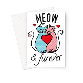 Meow & Furever Greeting Card