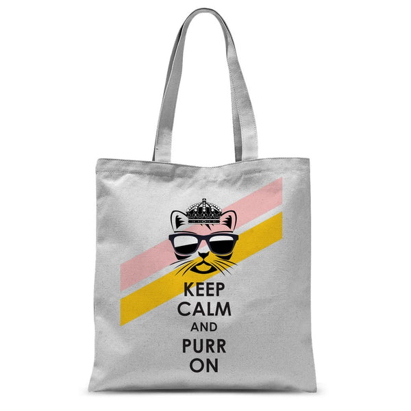 Purr On Sublimation Tote Bag