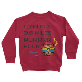 0.0 Miles Purrrr Hour Kids Sweatshirt