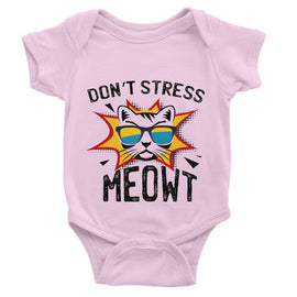 Don't Stress Meowt Baby Bodysuit