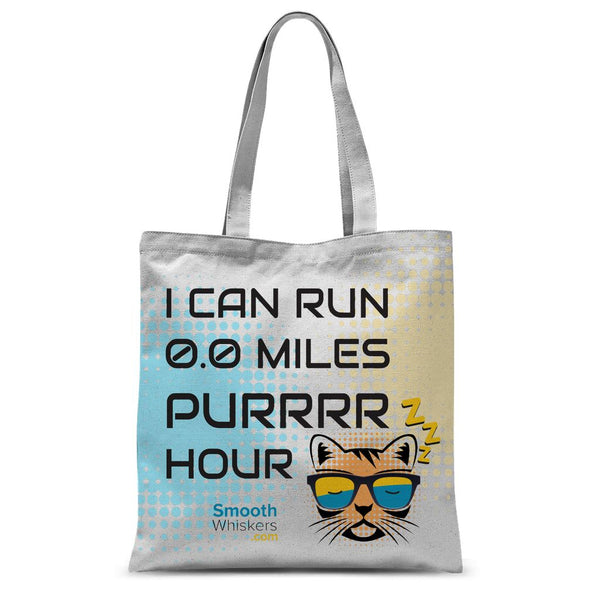 0.0 Miles Purrrr Hour Sublimation Tote Bag