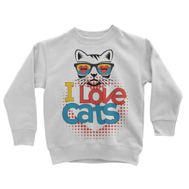 I Love Cats Kids Sweatshirt