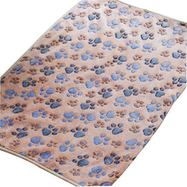 Cat Mat Soft Warm Fleece Paw Print