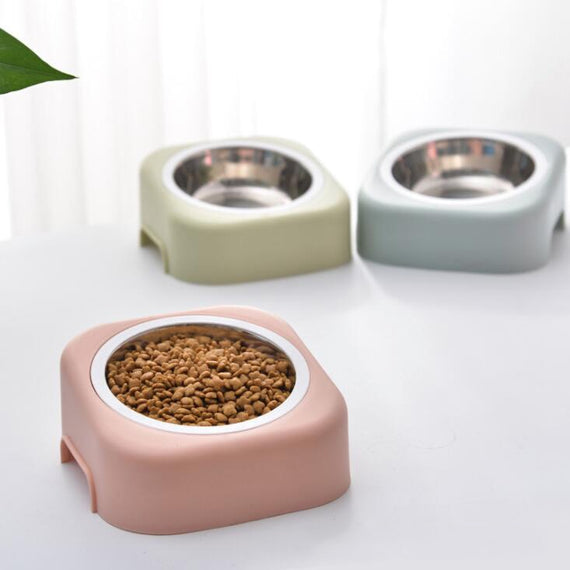 TECHOME New Special Cat Dog Bowl Stainless Steel Bowl PP Chassis Detachable Pet Feeder Home Cat Eating Tool Hygiene Cat Dog Bowl