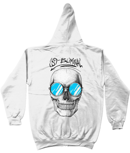 SBliminal Skull Shades Blue Zip Up