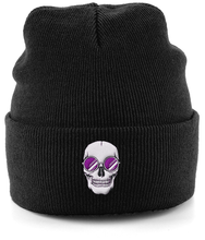 Load image into Gallery viewer, Purple Skull Shades Beanie