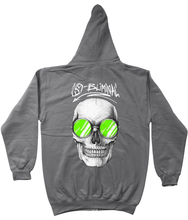 Load image into Gallery viewer, SBliminal Skull Shades Green Zip Up