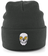 Load image into Gallery viewer, Yellow Skull Shades Beanie
