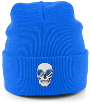 Load image into Gallery viewer, Blue Skull Shades Beanie