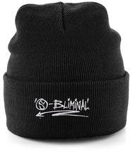Load image into Gallery viewer, Cuffed Beanie SBliminal Logo white