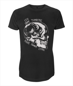 Less Thinking More Living Longline Tee