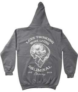 Less Thinking More Living Emblem Zip Up