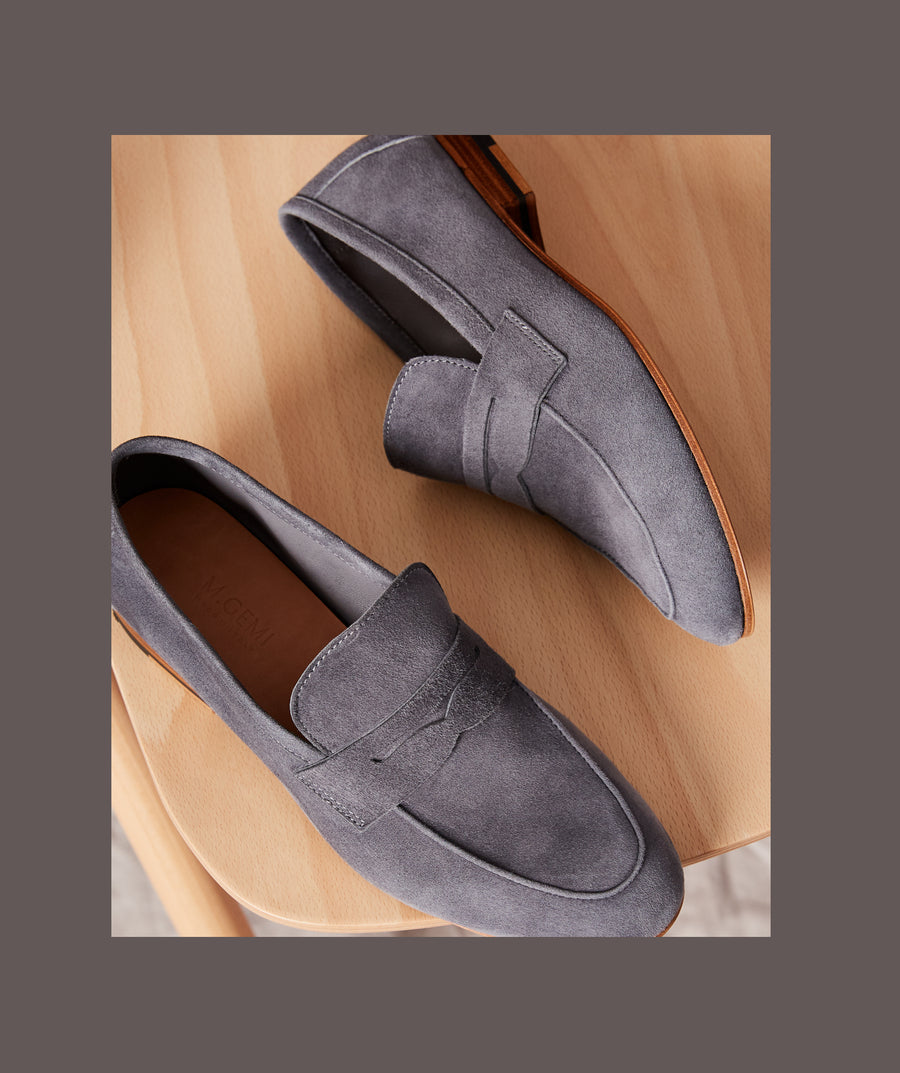 The Sacca Donna Loafer-Gray