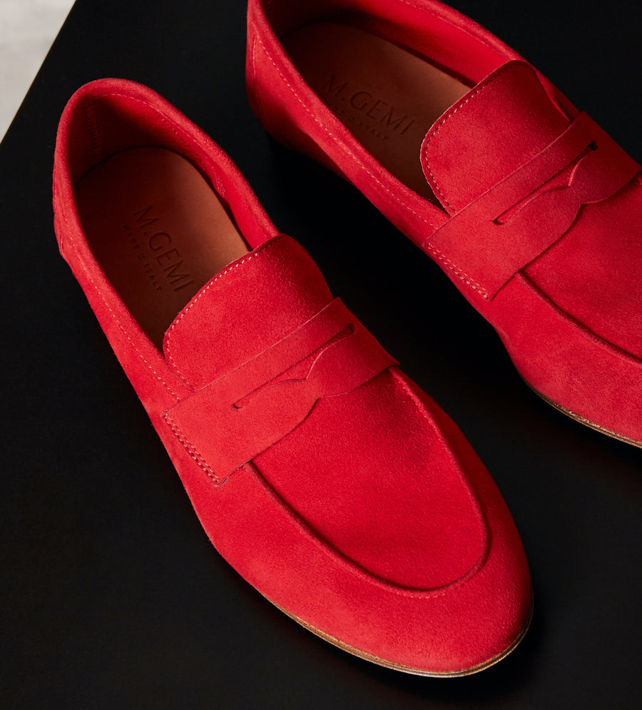 The Sacca Donna Loafer-Red