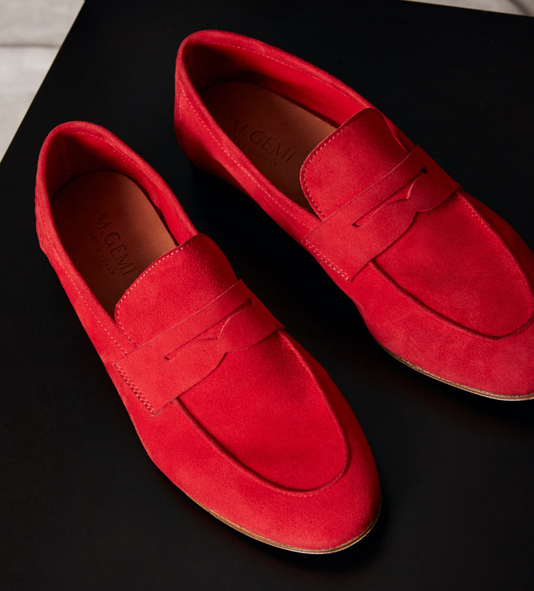 The Sacca Loafer-Red