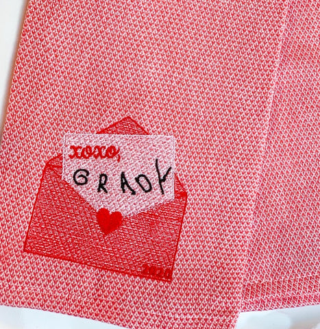 Custom Signature Valentines Day kitchen towel