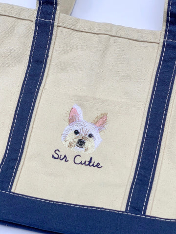 Custom pet tote