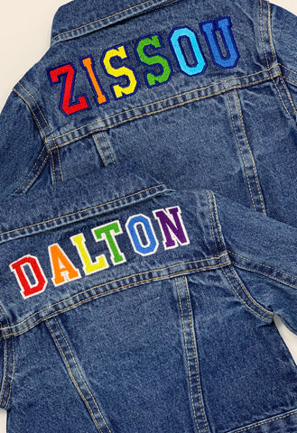 Custom Jean Jacket (Toddler/Kids)