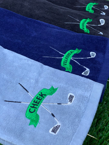 Golf towel with design