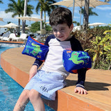 Custom monogrammed boys striped swim shorts. Baby boy gift. seersucker boys swim trunks. boy gift. vacation must-have. Chicago monograms.