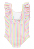 RuffleButts Rainbow Stripe Waterfall One Piece