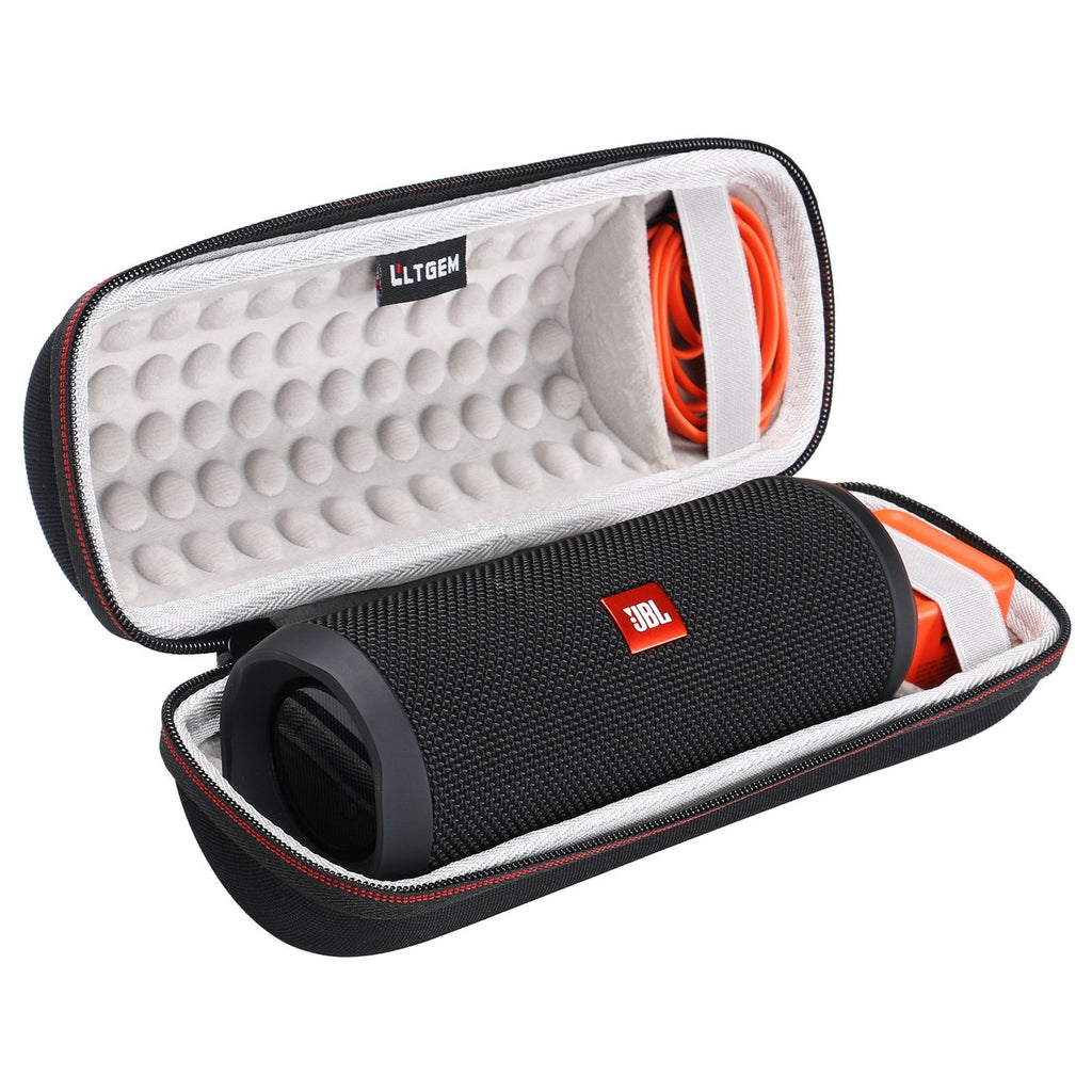 LTGEM Case for JBL Flip 3/4 Waterproof Portable Speaker. Fits USB Cable and Charger