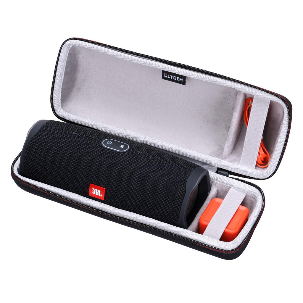 LTGEM Travel Carrying Case for JBL Charge 4 Portable Waterproof Wireless Bluetooth Speaker. Fits USB Cable and Charger.