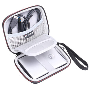 LTGEM Hard Travel Case for G-Technology G-Drive Mobile 1TB 2TB 4TB USB 3.0 External Hard Drives