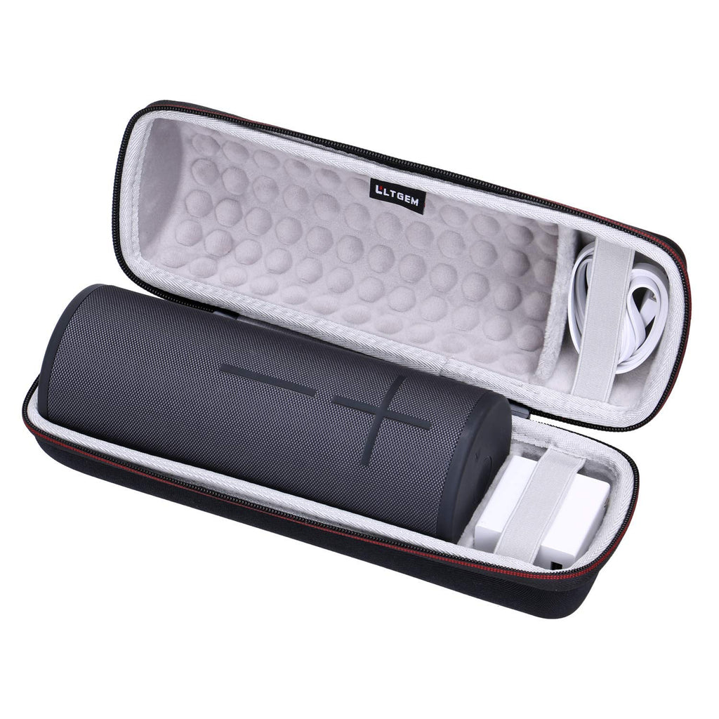 LTGEM Hard Case for Ultimate Ears UE MEGABOOM 3 Portable Bluetooth Wireless Speaker. Fits USB Cable and Charger.