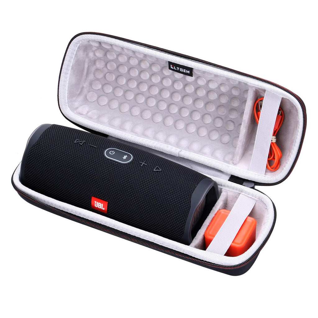 LTGEM Hard Case for JBL Charge 4 Portable Waterproof Wireless Bluetooth Speaker. Fits USB Cable and Charger.