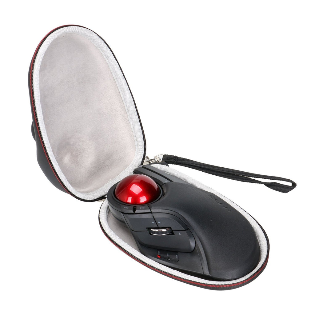 LTGEM EVA Hard Case for ELECOM M-HT1DRBK Wireless Trackball Mouse - Travel Protective Carrying Storage Bag