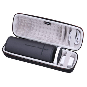 LTGEM Hard Carrying Case for Ultimate Ears UE MEGABOOM 3 Portable Bluetooth Wireless Speaker. Fits Charging Dock and Other Accessories.
