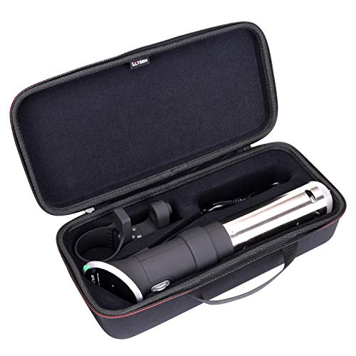 LTGEM Hard Carrying Case for Anova Culinary Sous Vide Precision Cooker 800 Watts or 900 Watts - Black