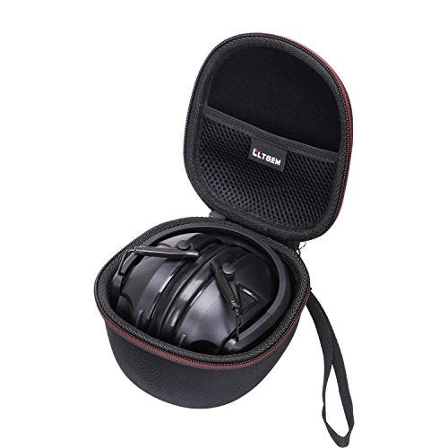 LTGEM EVA Hard Case for Walker's Game Razor Slim Electronic EarMuff - Travel Carrying Storage Bag (Black)