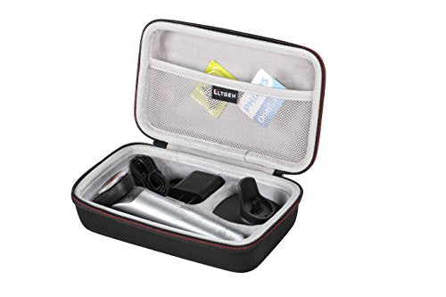 LTGEM Case for Philips Norelco Oneblade QP6520/70 Pro Hybrid Electric Trimmer and Shaver EVA Hard Case Travel Carrying Protective Storage Bag